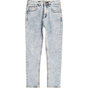 Light blue wash Sid skinny jeans voor jongens