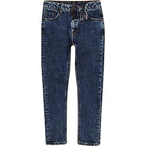 Sid - Donkerblauwe skinny jeans voor jongens