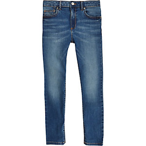 Boys mid blue Danny super skinny jeans