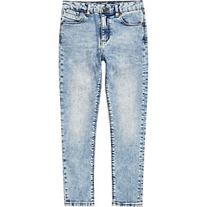 Dylan – Hellblaue Slim Fit Jeans in Acid-Waschung
