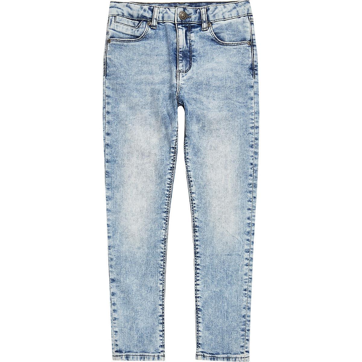 Light blue Dylan acid slim fit jeans