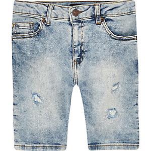 Boys light blue Sid skinny denim shorts