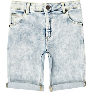 Dylan – Slim Fit Shorts in blauer Waschung