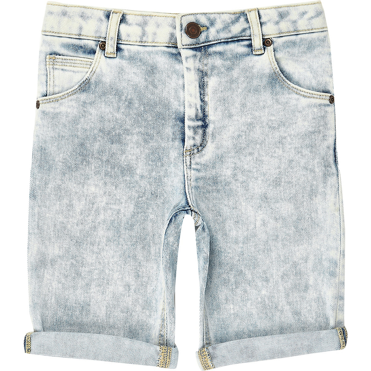 Boys blue wash Dylan slim fit shorts