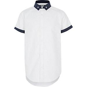 Chemise blanche à double col pour garçon