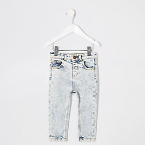 Sid blue wash skinny jeans voor mini boys