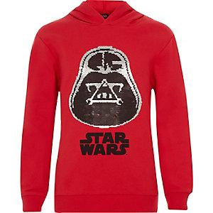Roter Hoodie mit Star-Wars-Paillettenmotiv für Jungen