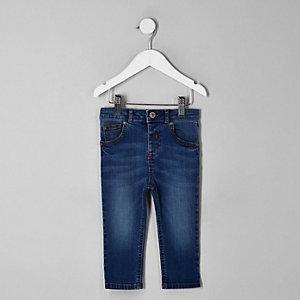 Mini - Sid - Lichtblauwe skinny jeans voor jongens