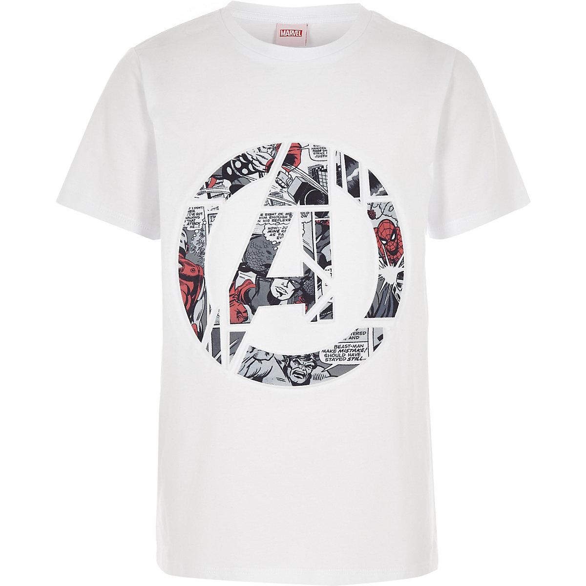 Boys white Marvel Avengers T-shirt