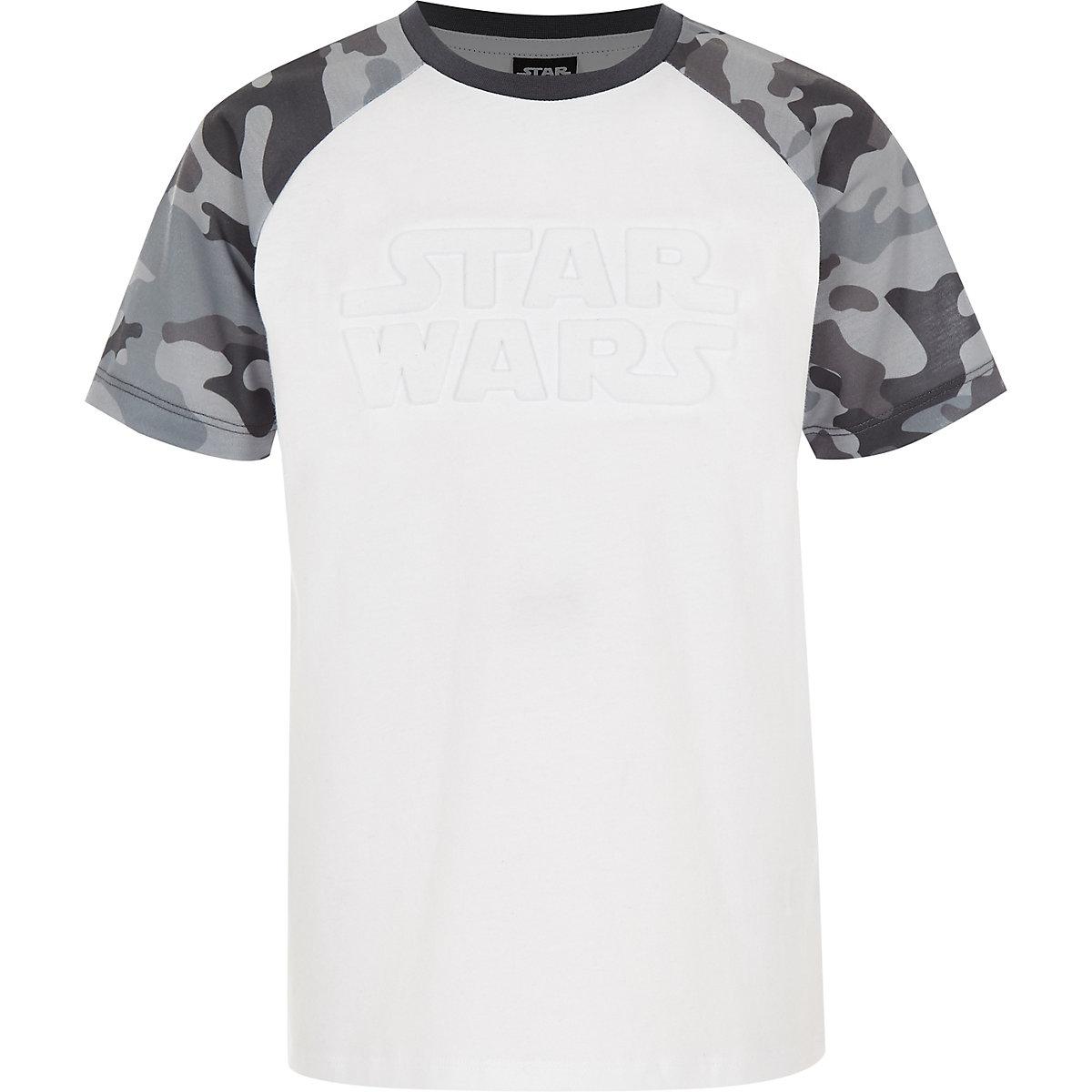 """Graues Camouflage-T-Shirt """"Star Wars"""" mit Raglanärmeln"""