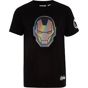 Boys black Iron Man T-shirt