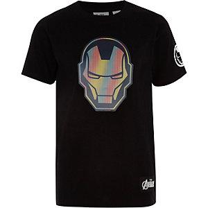 Zwart T-shirt met Iron Man-print voor jongens