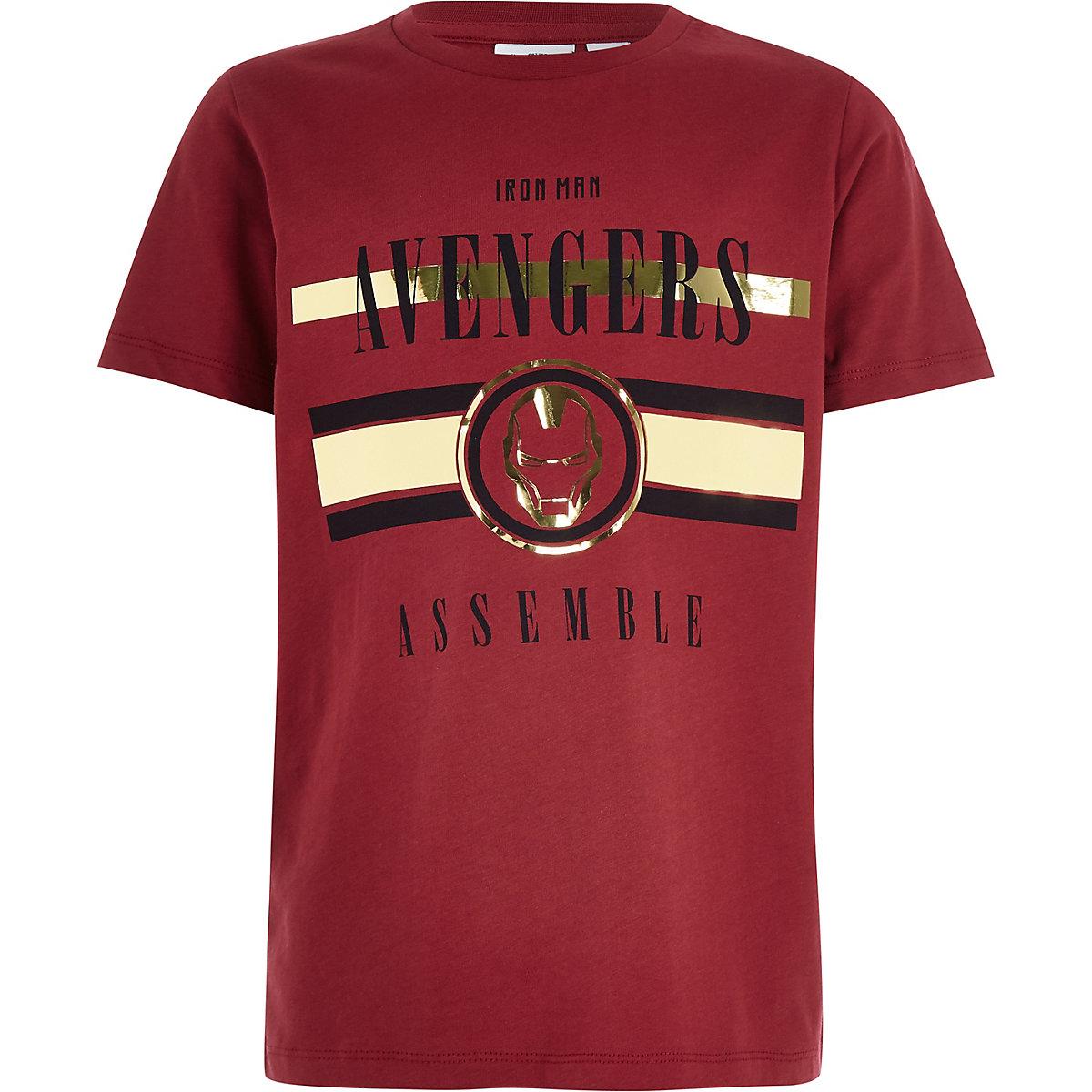 Iron Man Marvel – Rotes T-Shirt