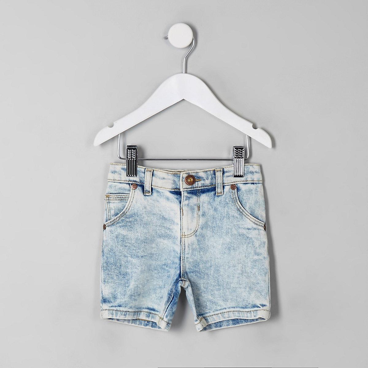 Mini boys blue Dylan denim shorts