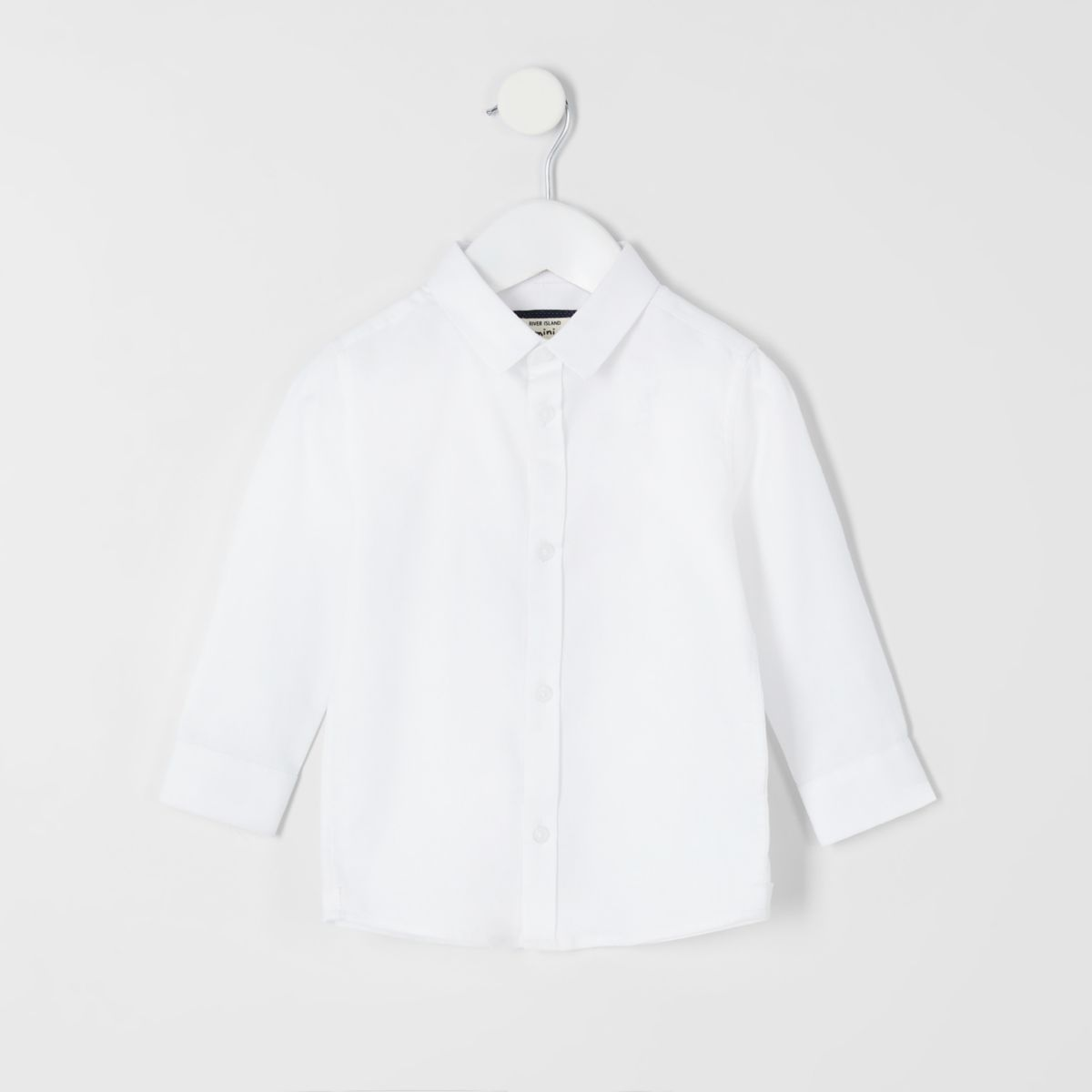 Mini boys white RI long sleeve shirt