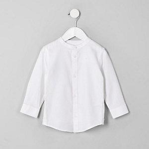 Chemise style grand-père blanche pour petit garçon