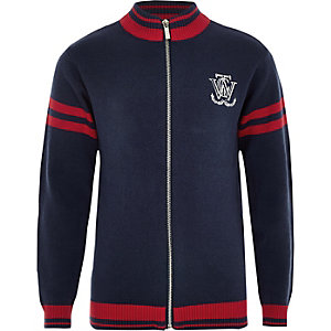 Marineblauw vest met rits voor jongens