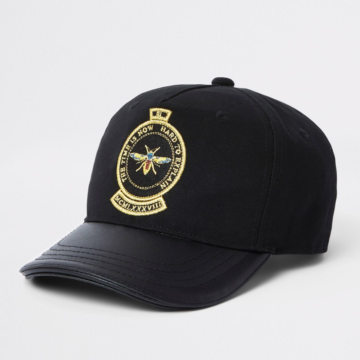 Mini boys black bee cap