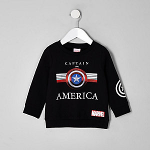 Sweat Marvel Captain America noir pour garçon