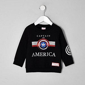 Zwart sweatshirt met Captain America Marvel-print voor jongens