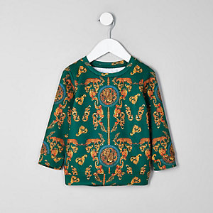 Mini boys green baroque sweatshirt