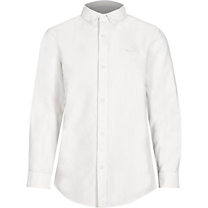 Boys white button-down collar shirt