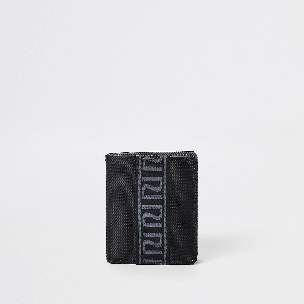 Boys black RI tape foldout wallet