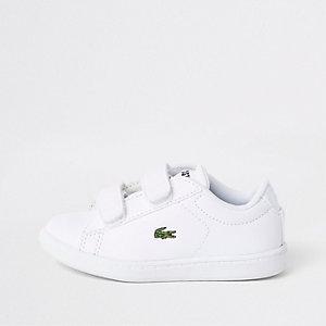 Mini boys Lacoste white Velcro sneakers