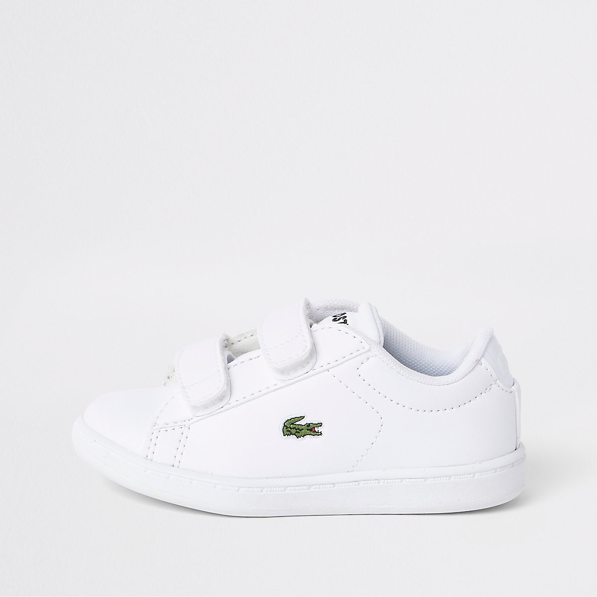 af2cb9eb4d Mini boys Lacoste white Velcro trainers