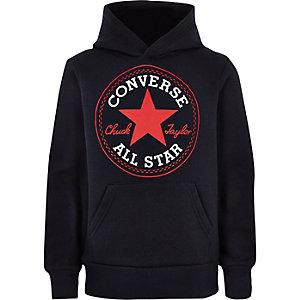 Converse – Marineblauer Hoodie mit Logo