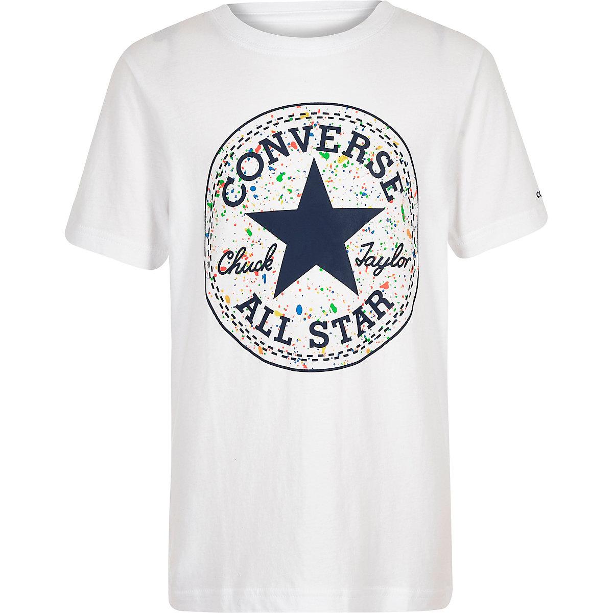 Boys white Converse splatter logo T-shirt