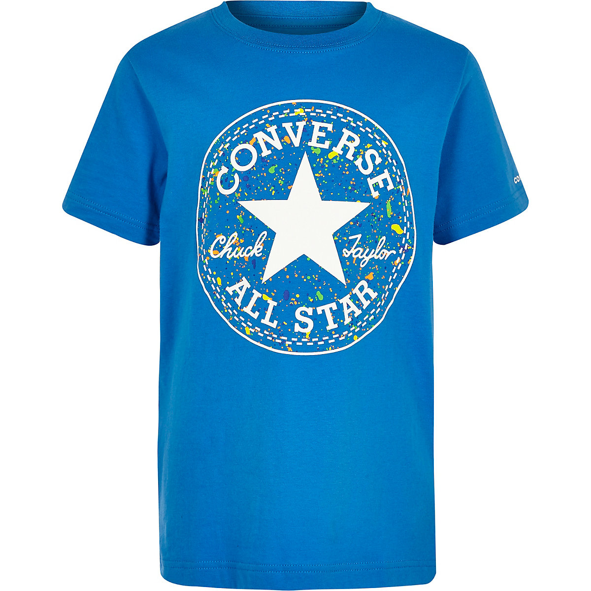 Boys blue Converse splatter logo T-shirt