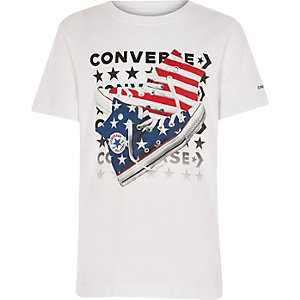 Boys white Converse print T-shirt