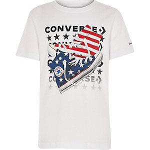 Converse – T-shirt imprimé blanc pour garçon