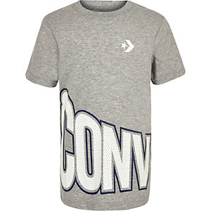 Converse – Graues T-Shirt mit Logo
