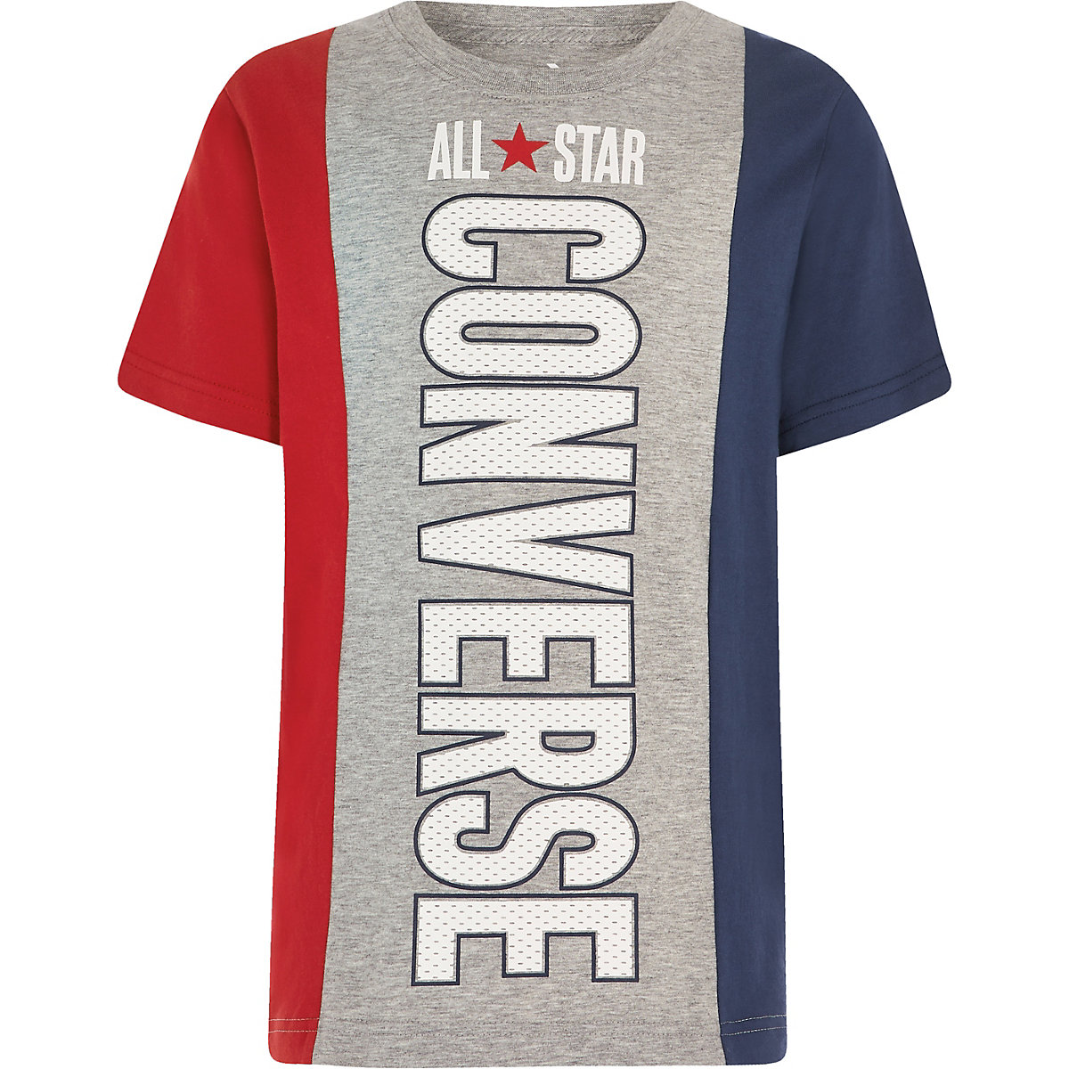 Boys grey Converse block T-shirt