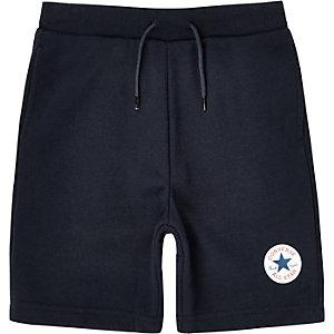 Converse - Marineblauwe jersey short voor jongens