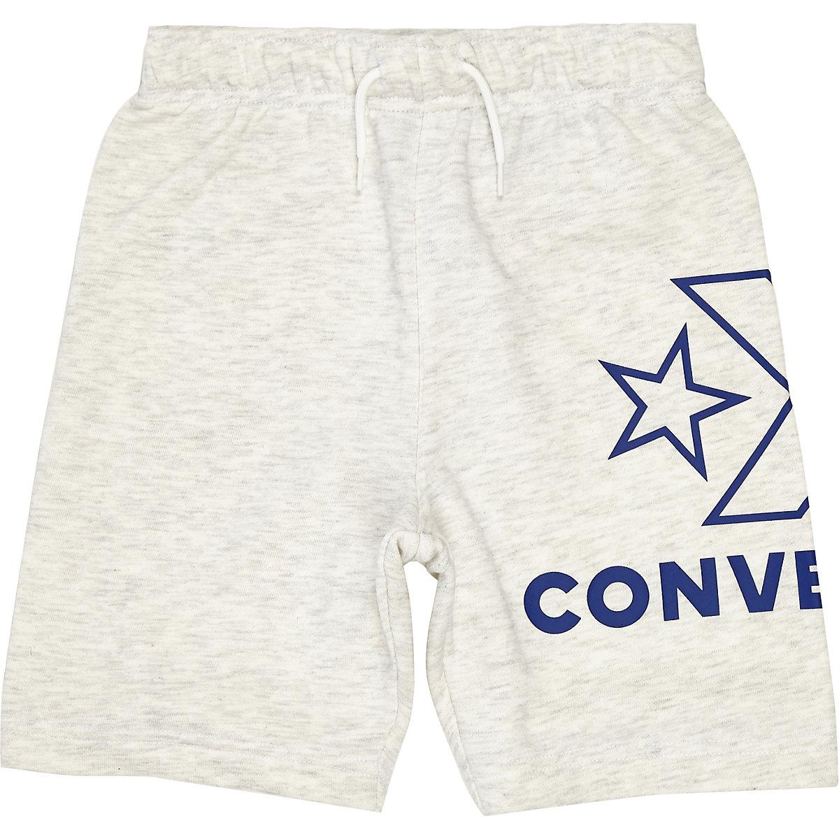 Boys white Converse logo jersey shorts