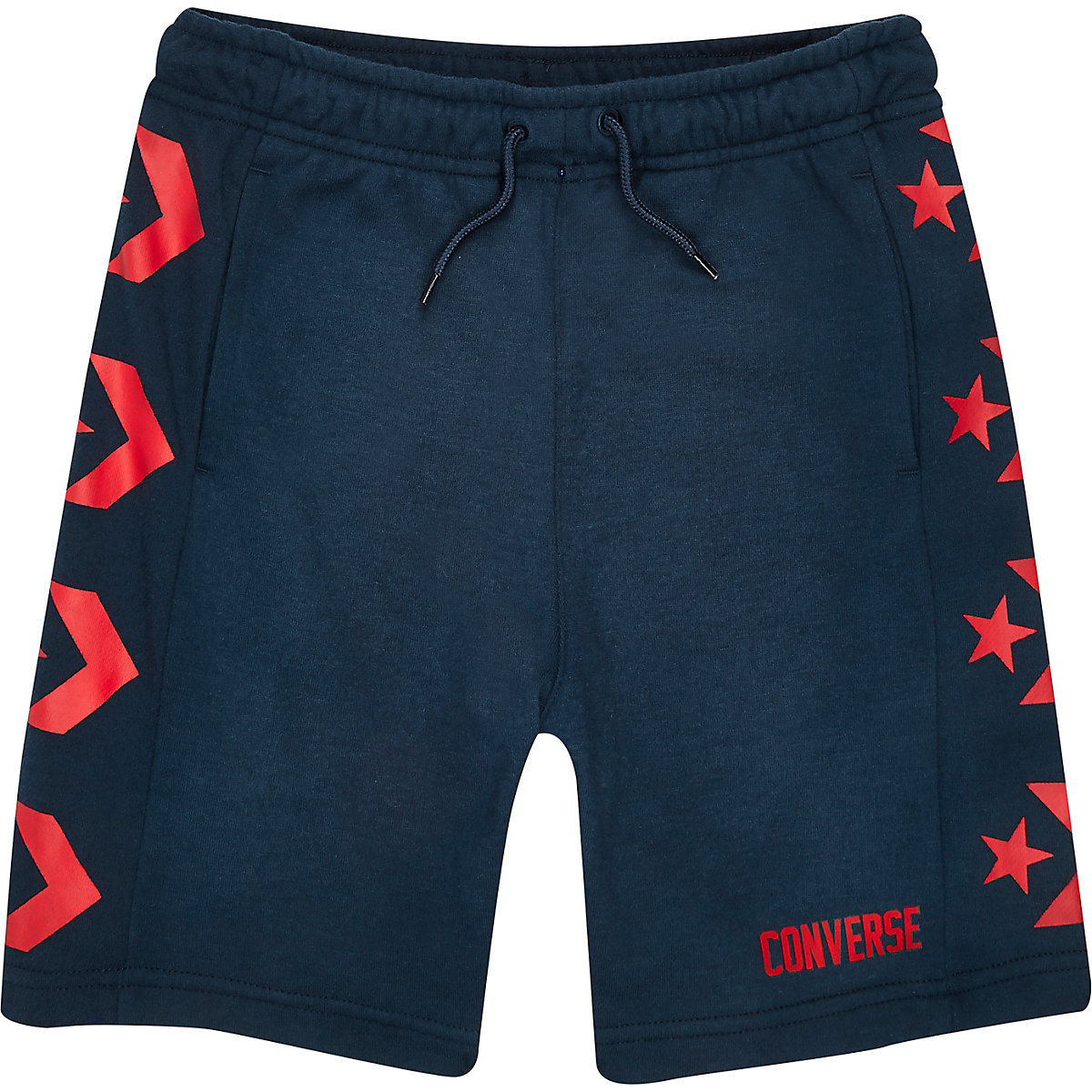 Boys navy Converse logo jersey shorts