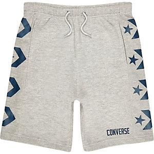 Converse - Grijze jersey short met logo voor jongens