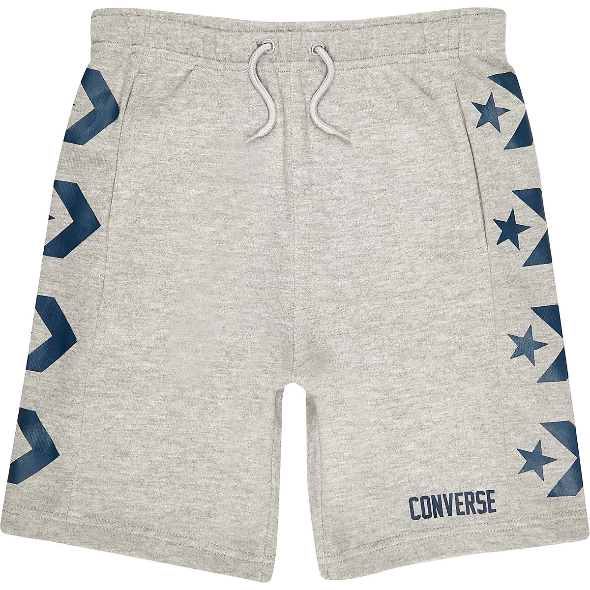 Boys grey Converse logo jersey shorts