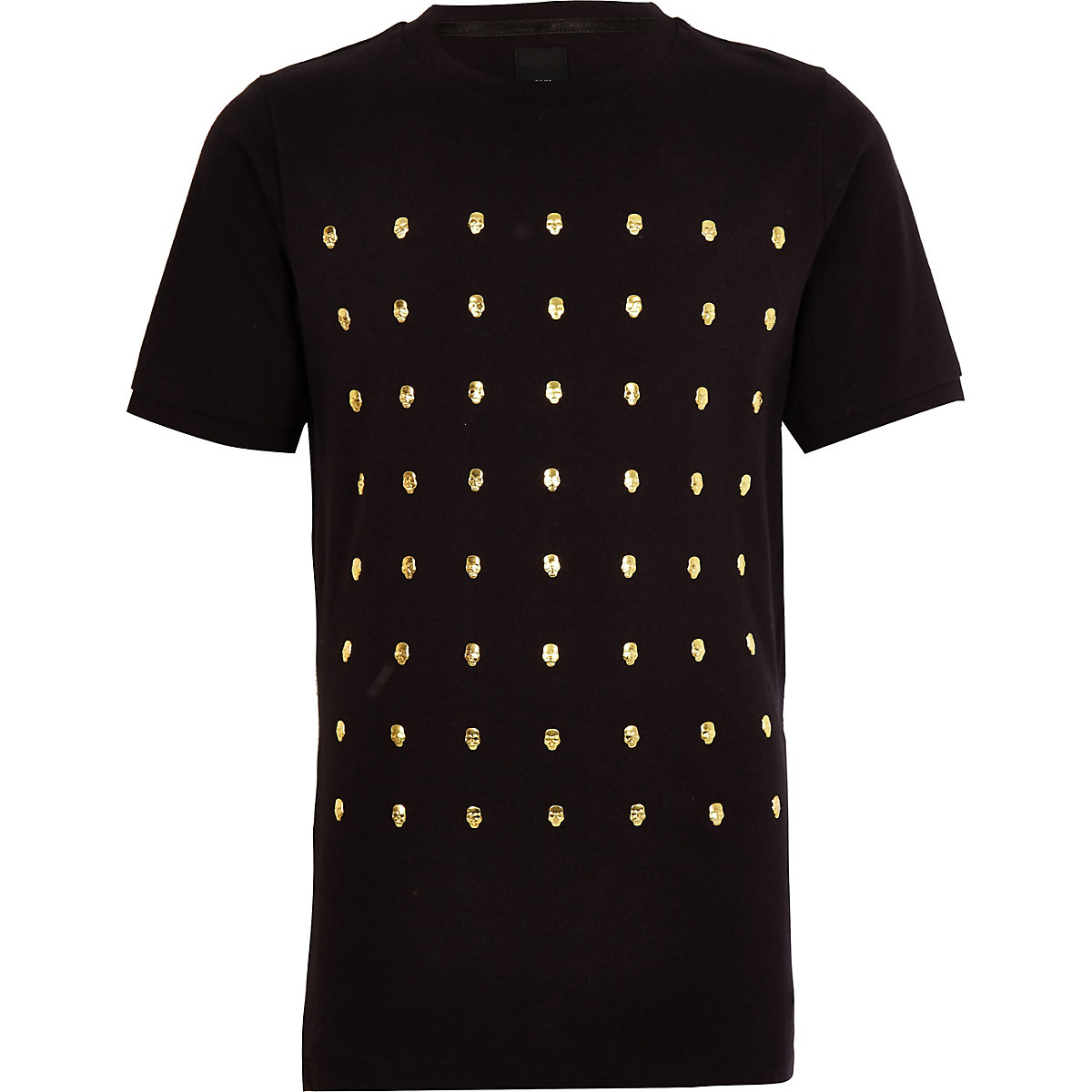 Schwarzes T-Shirt mit Nieten