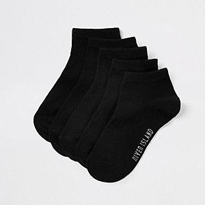 Schwarze Sneaker-Socken im Set
