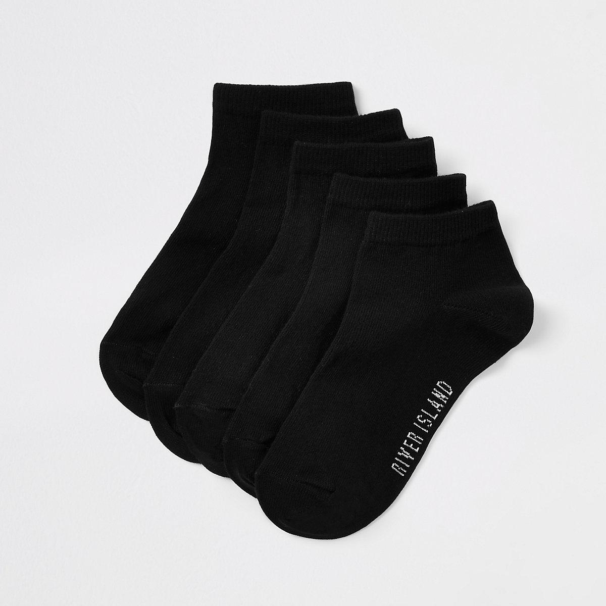 Boys black RI trainer socks multipack