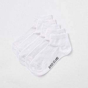 Multipack witte sportsokken met RI-logo voor jongens