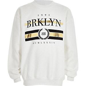 Sweat noir à imprimé doré « Brklyn » garçon