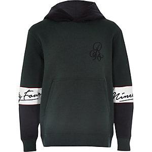 Groene hoodie met kleurvlakken voor jongens