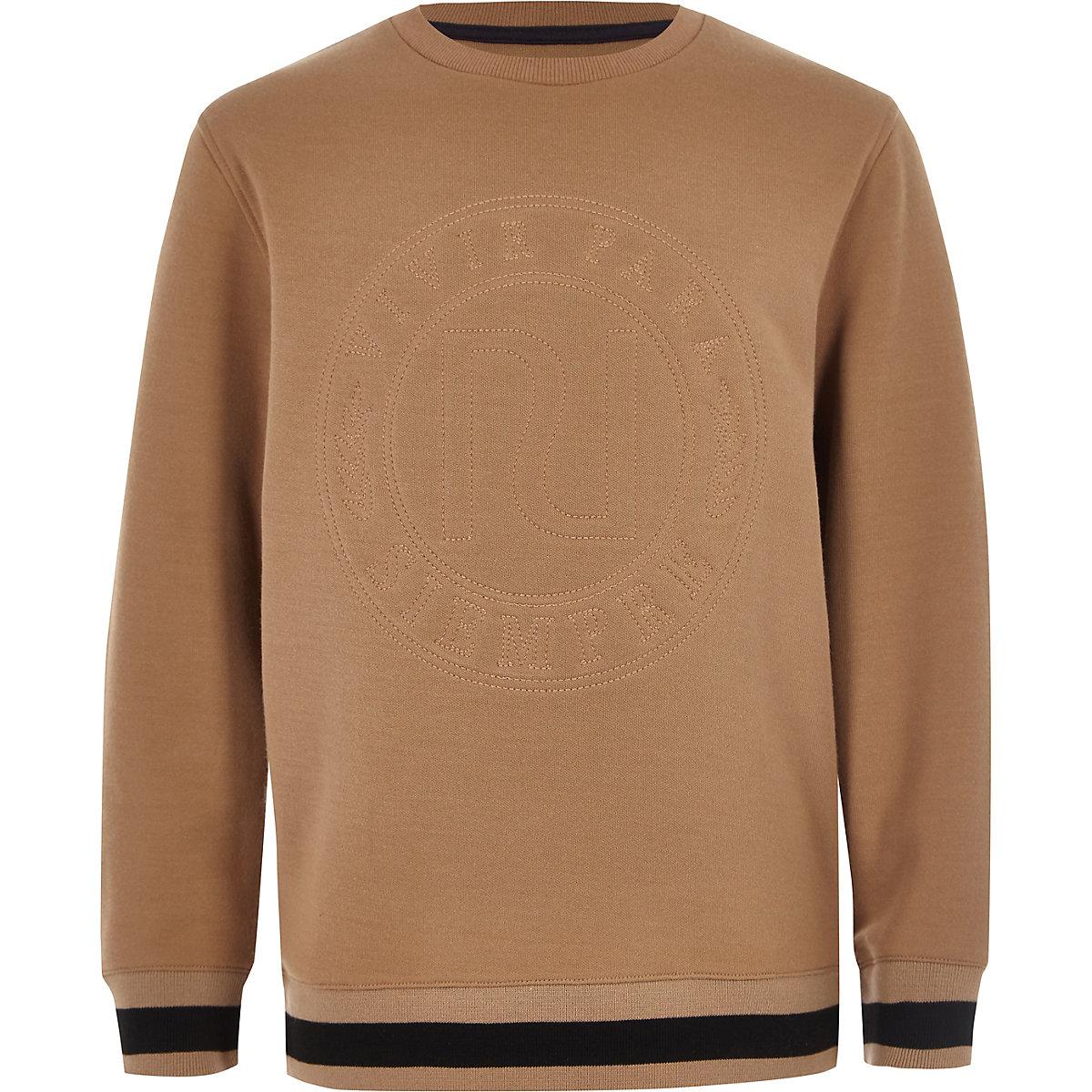 Boys stone RI embroidered sweatshirt