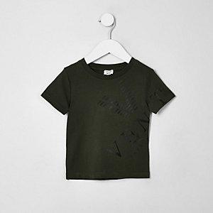 Mini boys khaki 'Venti' T-shirt