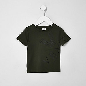 Mini boys khaki 'Venti' T-shirt